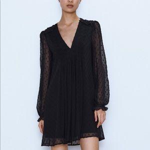 Zara Swiss dot mini dress bloggers favorite XL